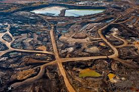 Extrativism takes a steep toll on the environment at the Alberta Tar Sands.